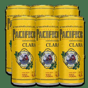 6 Pack Pacifico Clara Lata 355ml