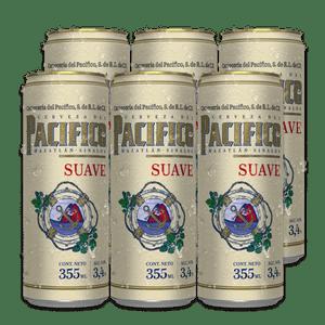 6 Pack Pacifico Suave Lata 355ml
