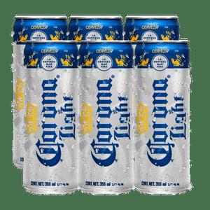 6 Pack Corona Light Lata 355ml