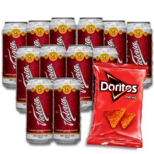12 Pack Victoria Laton 473ml + Doritos Nachos 146g