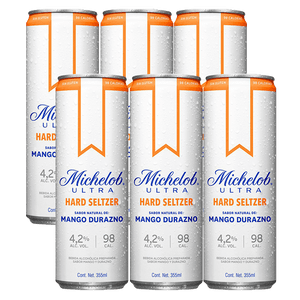 6 Pack Michelob Hard Seltzer Durazno 355ml