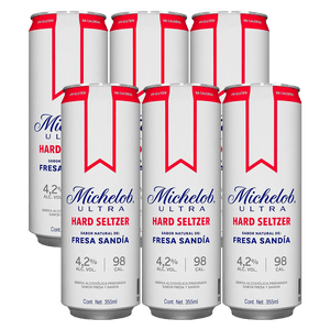 6 Pack Michelob Hard Seltzer Fresa 355ml