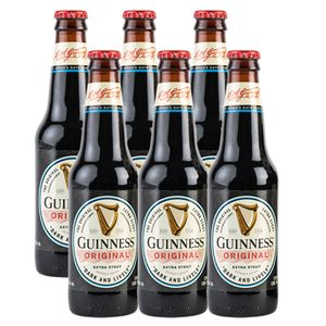 6 Pack Guinness Original Botella 355ml