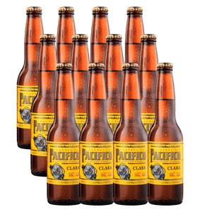 12 Pack Pacífico Clara Botella Desechable 355ml