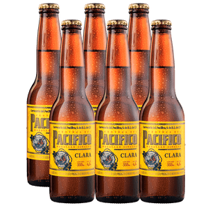 6 Pack Pacífico Clara Botella Desechable 355ml