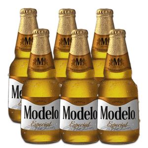 6 Pack Modelo Especial Botella Desechable 355ml