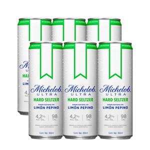 6 Pack Michelob Seltzer Pepino-Limón 355ml