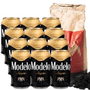 12 Pack Negra Modelo Lata 355 + Carbón